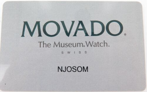 .VINTAGE OBSOLETE BLANK MOVADO WARRANTY CARD.