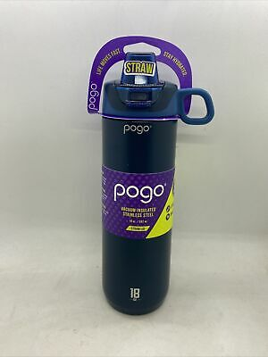 NEW! Pogo 18oz Stainless Steel Sport Water Bottle with Straw