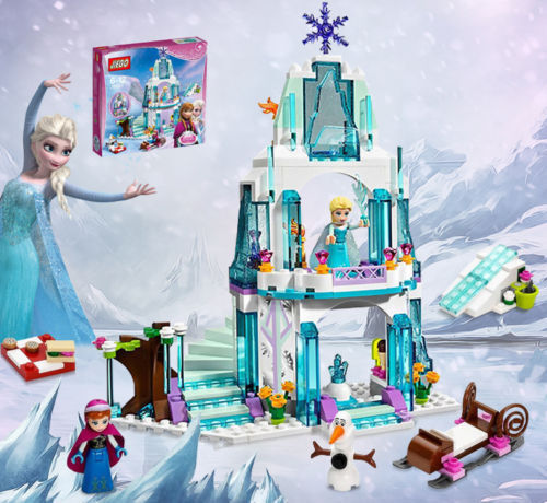 Die Eiskönigin Princess Elsa Anna Olaf funkelnder Eispalast Spielset Bauklötze