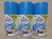 3 Glade Clean Linen Automatic Spray Refill 6.2 Oz