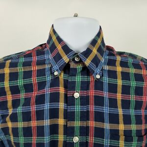 Paul-Stuart-New-York-USA-Mens-Blue-Red-Blue-Check-L-S-Casual-Button-Shirt-Sz-S