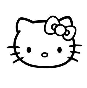 0ae2b21cc Hello Kitty Vinyl Die Cut Car Decal Sticker - FREE SHIPPING | eBay