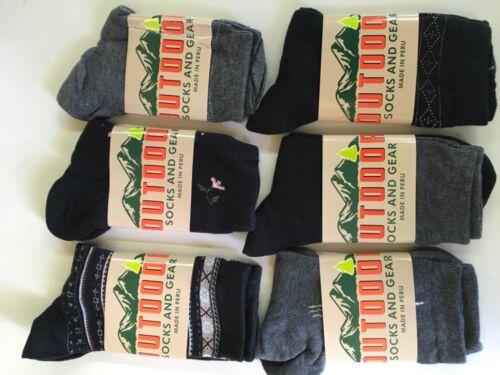 shoe size 6-9 Women/'s 6 Ships Free Pairs Pima cotton Mix 5 Knit Crew Socks