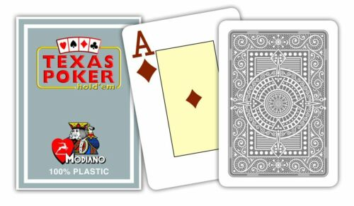 Cards Game Modiano Texas Poker , Grey 52 Cards