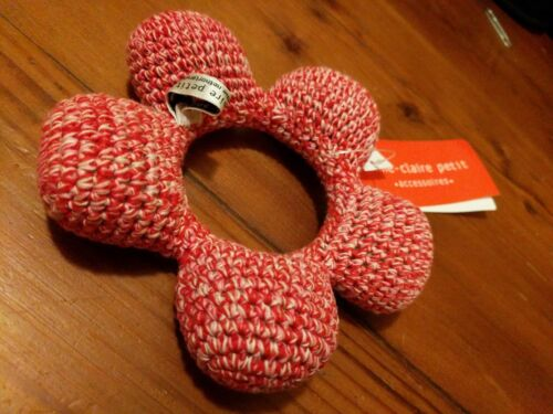 Anne-Claire Petit Amsterdam Organic Crocheted Hand-Knit Red Flower Baby Rattle