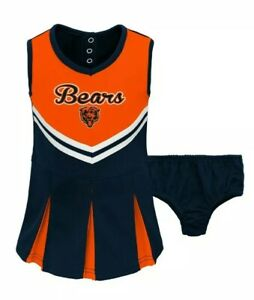 100% authentic 05b14 83f04 Details about NFL TEAM APPAREL CHICAGO BEARS TODDLER 2PC CHEERLEADER DRESS  SIZE: 4T
