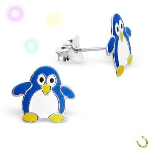 Mädchen Pinguin Ohrstecker 925 Sterling Echt Silber Ohrringe Geschenkidee gh-1a