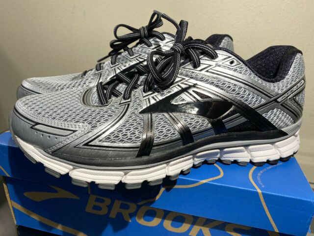 Brooks Adrenaline GTS 17 Mens Size 10.5 D Running Shoes Silver/Black/Anthracite