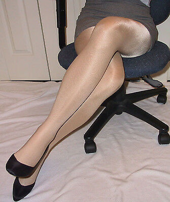 SPECIAL OFFER 3 pairs 20 D Nude Glossy High Shine Luxury Pantyhose Get THE look!