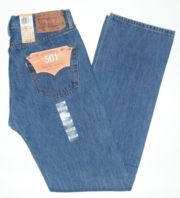 Levis 501 Button Fly Mens Jeans Authentic Many Colors Many Sizes New With Tags