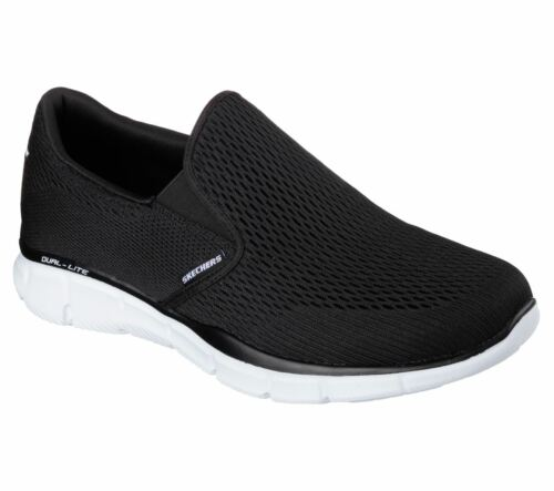 Negro Double Talla Equalizer Skechers Zapatillas Hombre Blanco Play 48vXw