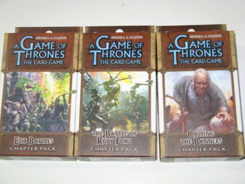 A Clash of Arms chapter pack lot of 3 NEW Battles Game of Thrones LCG expansion