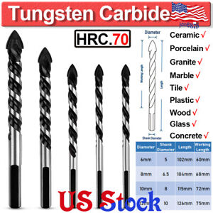 For Granite Porcelain Ceramic Tile Concrete Brick Tungsten Carbide Drill Bit Set