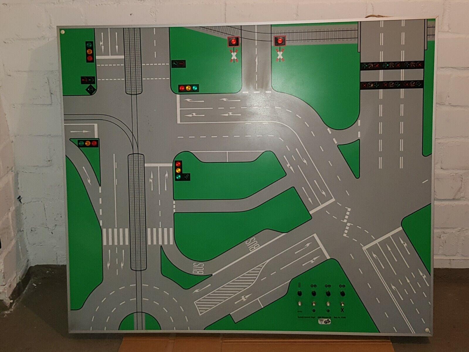 Fahrschule Fahrschultafel Lernmittel Verkehrerziehung Tafel Verkehrstafel Schule