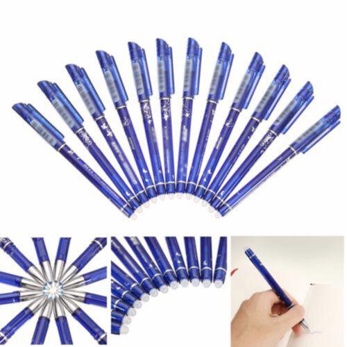 12 Stück 0.5mm 148mm Magie Stift Löschbar Kuli Kugelschreiber Gel Erasable Pen