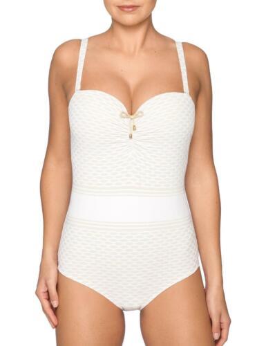 Prima Donna Salsa Swimsuit 4003037 Womens Padded Swimming Costume White Yacht