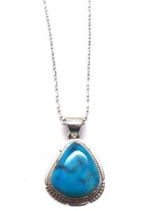 Navajo Turquoise /& Sterling Silver Pendant