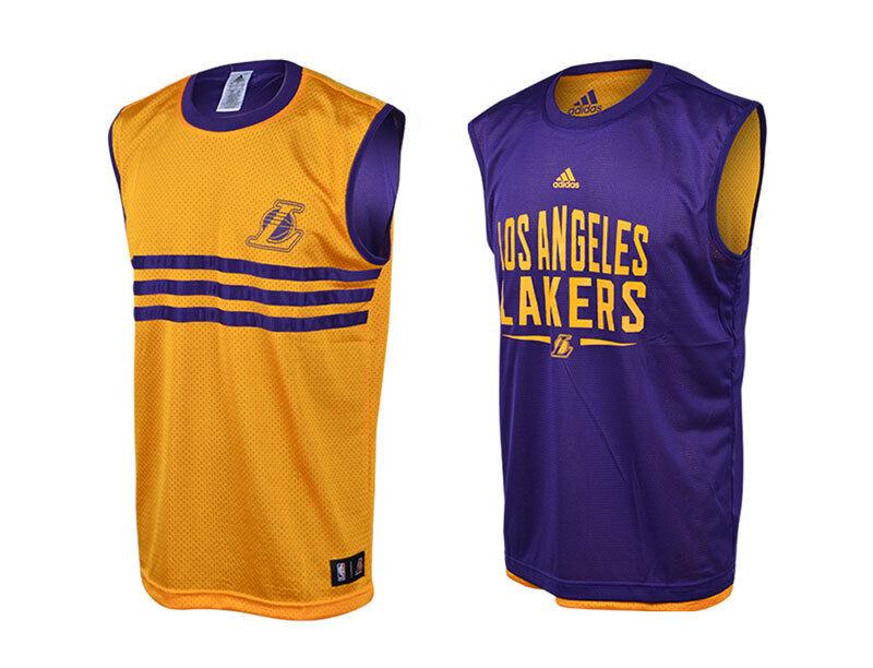 Adidas NBA Los Angeles Lakers [ Erl 128 164] Maglia Funzionale S29767 Canottiera
