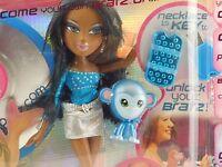 Bratz Be-bratz.com Sasha Black/african American Doll W/ Pet Monkey Blue Usb