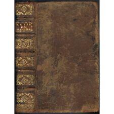 ESSAIS de MORALE ou LETTRES ÉCRITES par feu M. NICOLE ex-libris SAURET 1727 T.2