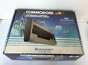 Vintage Commodore 64 Computer w/ Original Box, Some Cables, NO POWER CABLE! READ