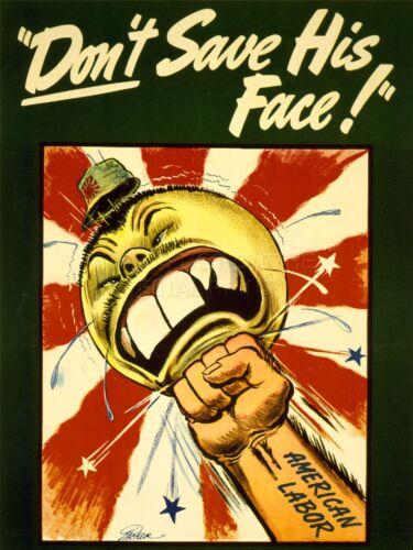 ART PRINT POSTER PROPAGANDA WWII WAR USA JAPAN CARICATURE NOFL1025