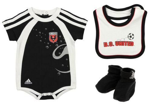 Adidas MLS Infant D.C. United Soccer Club Goalie Creeper with Bib & Booties Set