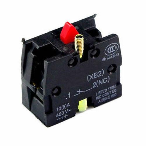 10 Piezas Telemecanique zb2-be102c NC bloque de contacto sustituye Tele 10a 400v