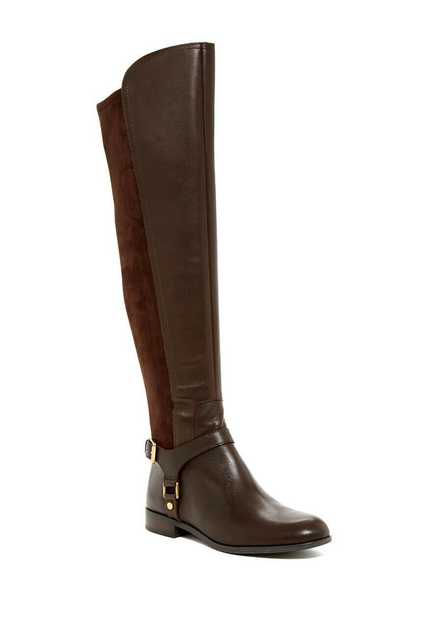 New 189  Franco Sarto Mast High Women's Boot Oxford Brown US Size 6.5M