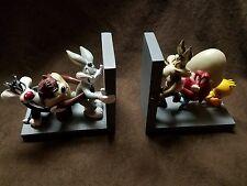 Rare Warner Bros Looney Tunes Book Ends Bugs Bunny Daffy Duck Taz Devil Tweety