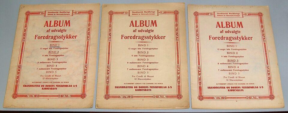 Klassiske foredragsstykker - klaverundervisning, Album