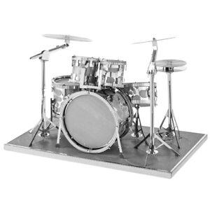 Metal-Earth-1076-Drum-Set-Drums-Musical-Instruments-3D-Metal-Kit