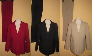 Klassischer Damen Hosenanzug Blazer Hose beige schwarz rot Gr. 36, 38 NEU!!