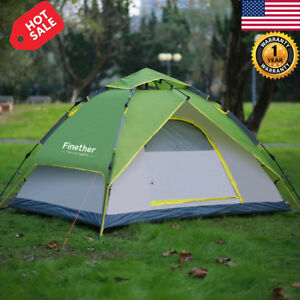 3-Person-Instant-Pop-Up-4-Season-Tent-Camping-Hiking-Waterproof-Family-Tent-Bag