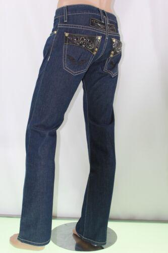 en coupe Jeans hommes et cuir bleu guépards droite pour avec Robin's slim Us Jeans garniture 31 TIqvU1Uw