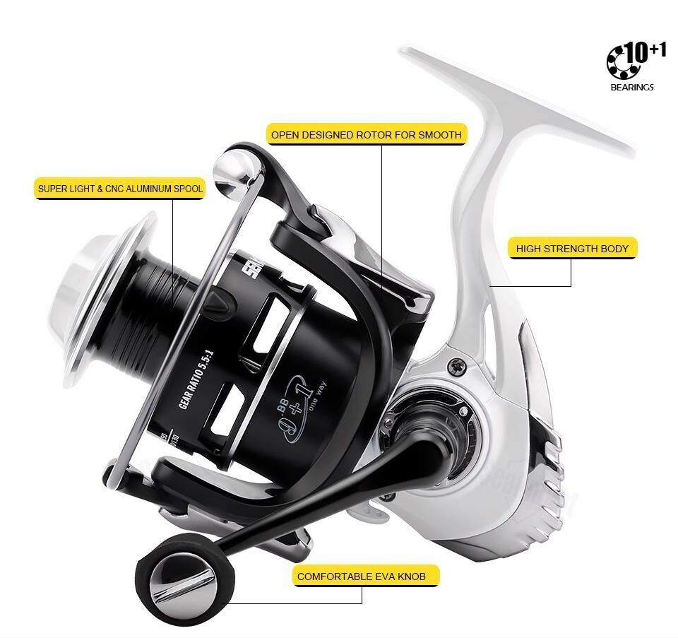 Spinning Reel Fishing High Speed Carbon Carbon Carbon Drag System Quality Liner Fish Water New 63decb