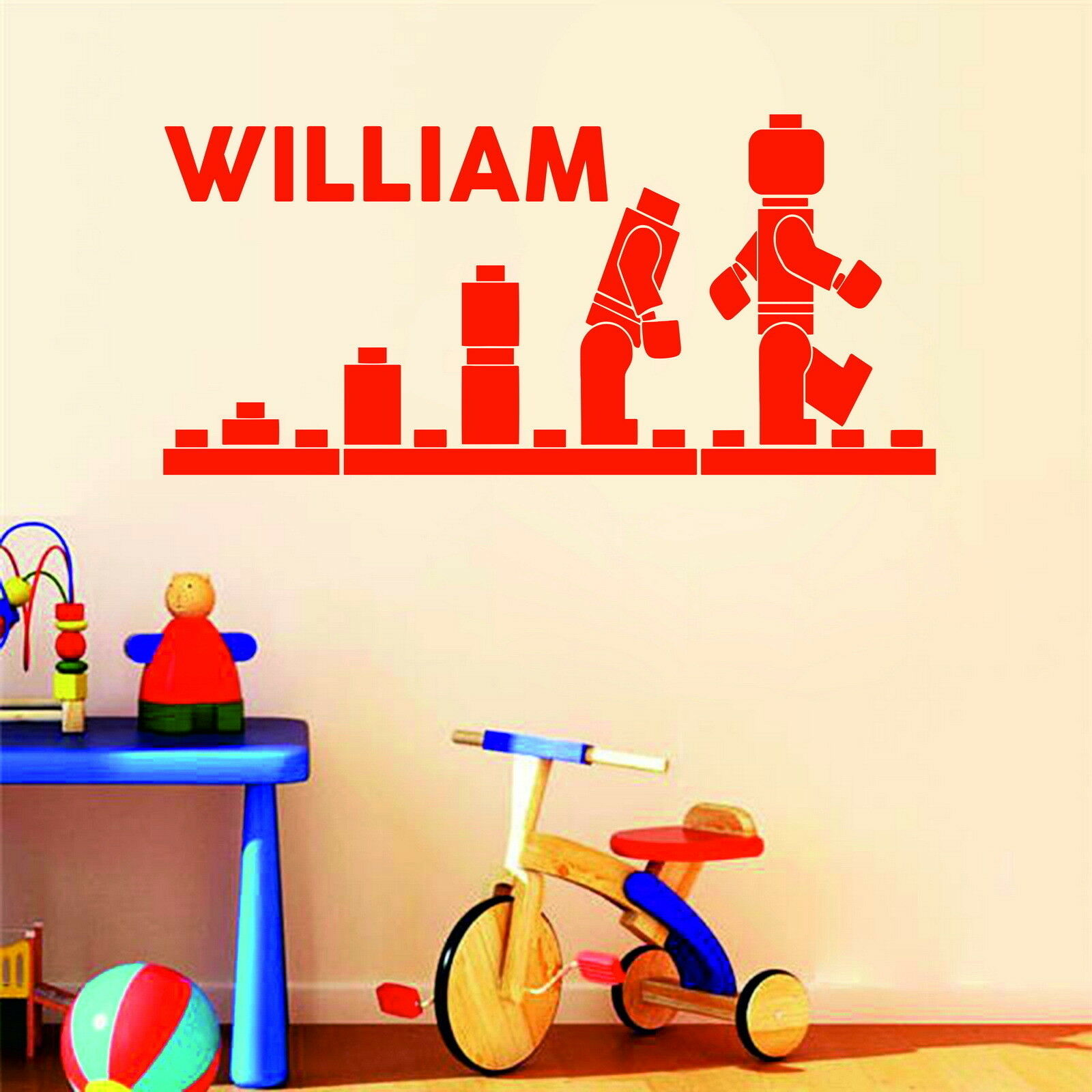 Details about Lego Evolution Personalised Boys or Girls Name Decor Vinyl  Wall Sticker Bedroom