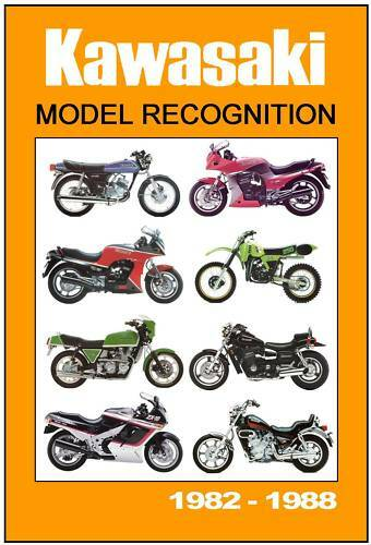 KAWASAKI Model Recognition Guide 1982-1988 Z1000 GPz900 GPz750 KX GPz1000 etc
