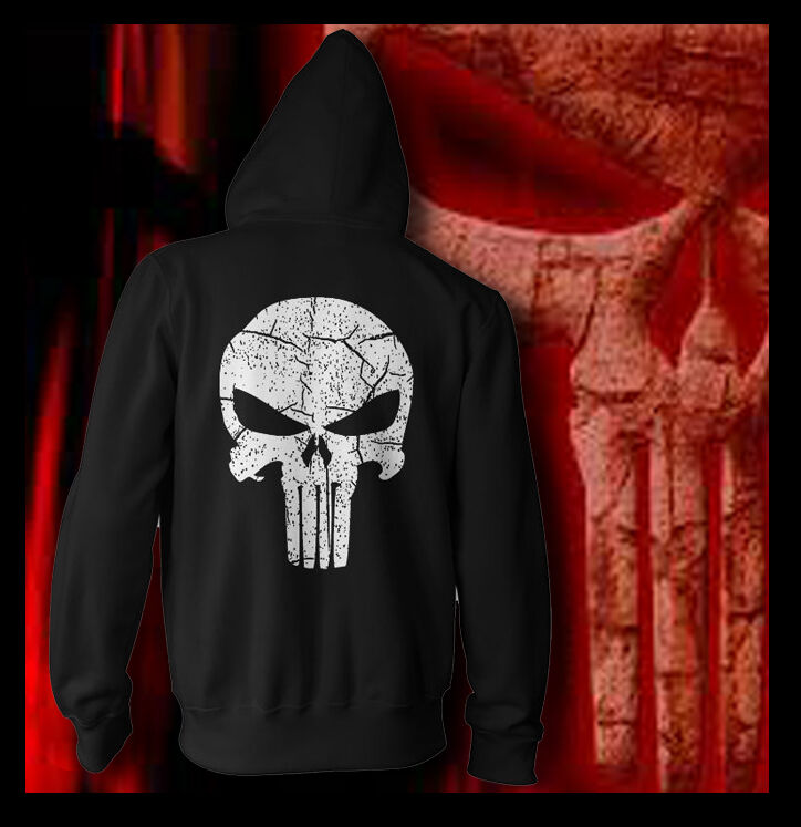 Marvel Punisher Skull shirt Navy Seal Team Six Distressed Vintage Font HOODIE
