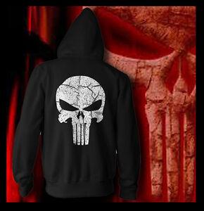 Shirt Vintage Team Font Six Seal Skull Punisher Hoodie Distressed Navy Marvel wEnxT481qT