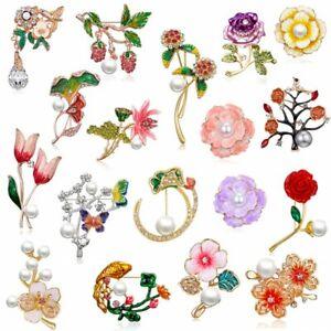 Fashion-Crystal-Flower-Brooch-Pin-Women-Rhinestone-Bouquet-Wedding-Jewelry-New