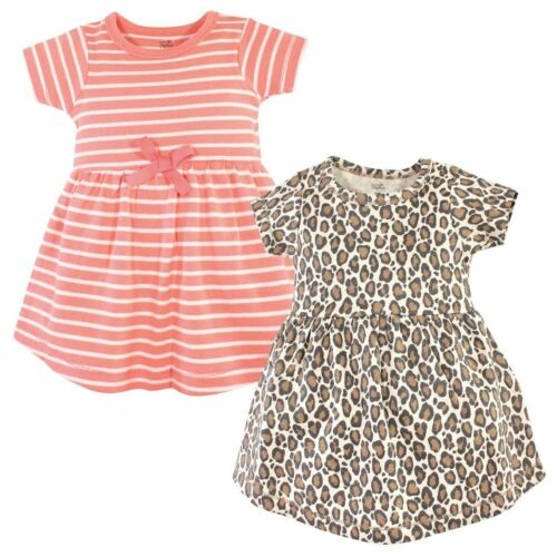 Toddler Touched by Nature Girls and Baby Organic Cotton Short-Sleeve Dresses,