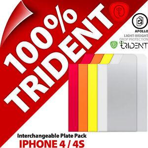 Trident-Apollo-Interchangaeble-Plaque-Paquet-pour-Apple-iPhone-4-4S-Coque-Rouge