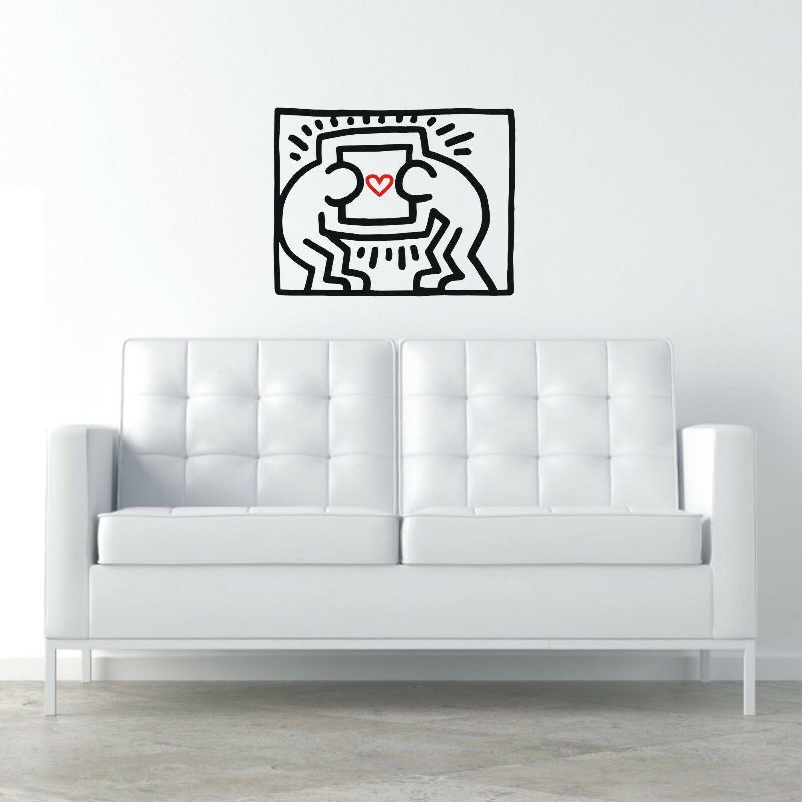 Adesivi Murali Keith Haring.Adesivi Murali Wall Stickers Keith Haring Pop Art Decorazione Parete Muri A0740 Ebay