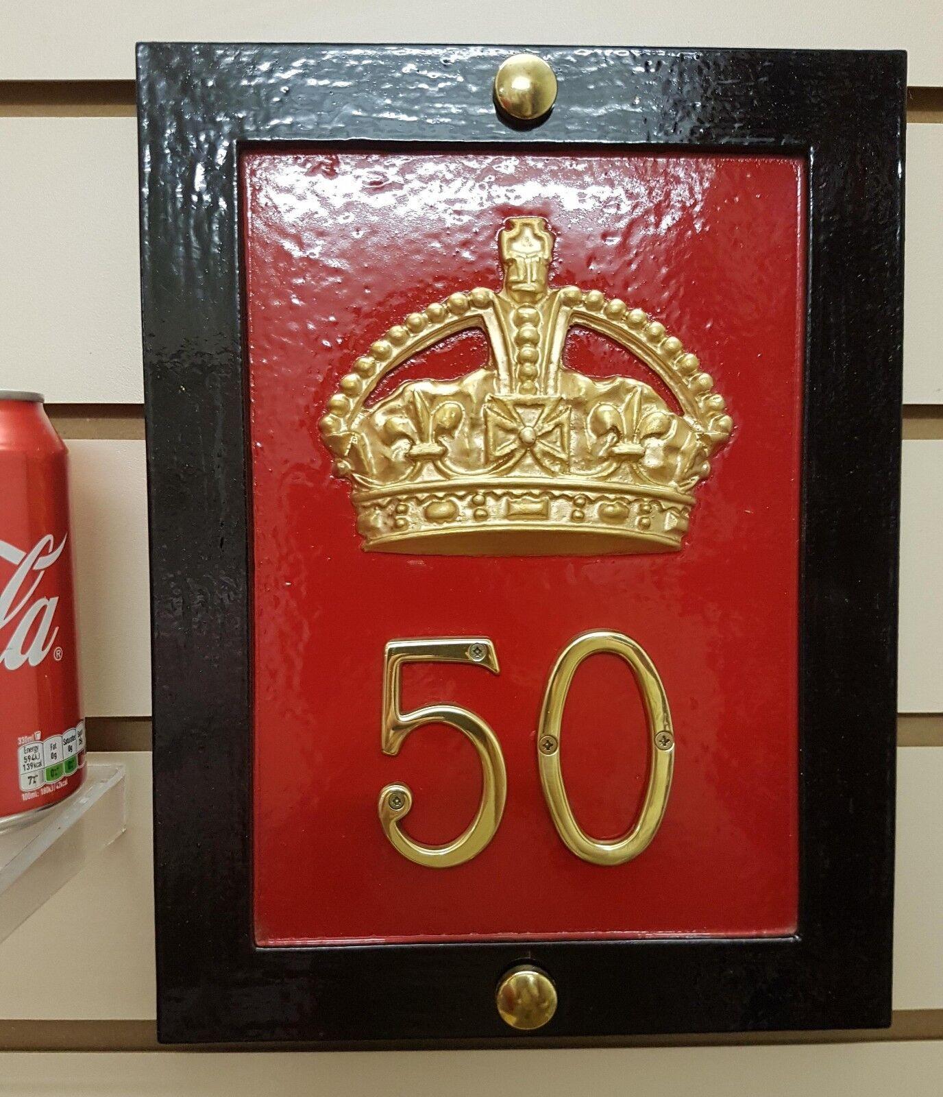 Rouge TELEPHONE BOX HOUSE PLAQUE - CAST OF ORIGINAL CROWN K6, démarrageH, KIOSK