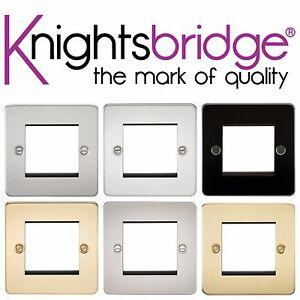 Knightsbridge Flat Plate 4G 4 Gang Modular Faceplate Socket Switch Face Plate