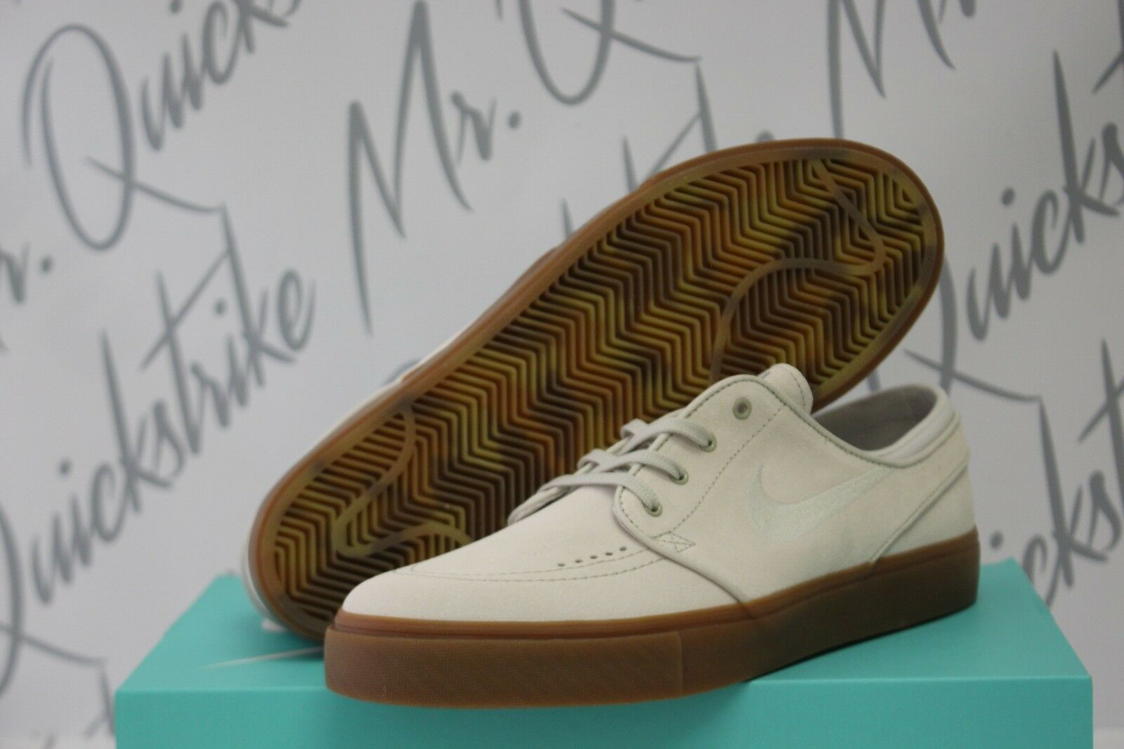NIKE SB ZOOM STEFAN JANOSKI SZ 9.5 9.5 9.5 LIGHT BONE THUNDER Bleu GUM BROWN 333824 057 d4e694