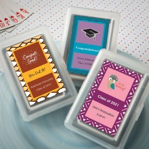 Image Is Loading 40 Personalized Playing Cards Graduation Birthday Party Favors