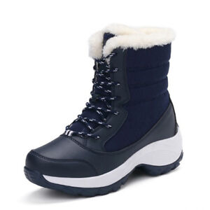 Women-Lace-Up-Fur-Lined-Thicken-Winter-Warm-Snow-Ankle-Boots-Round-Toe-Shoes