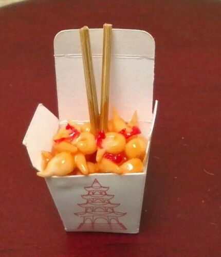 Dollhouse Miniature Bright deLights Sweet /& Sour Chinese take out 1:12 scale
